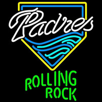 Rolling Rock San Diego Padres MLB Beer Sign Neon Sign