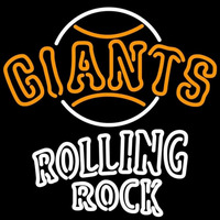 Rolling Rock San Francisco Giants MLB Beer Sign Neon Sign