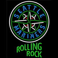 Rolling Rock Seattle Mariners MLB Beer Sign Neon Sign