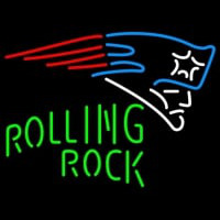 Rolling Rock Single Line New England Patriots NFL Neon Sign 1 0025 Neon Sign