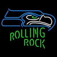 Rolling Rock Single Line Seattle Seahawks NFL Neon Sign 1 0025 Neon Sign