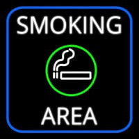 Round Smoking Area With Cigar Neon Sign