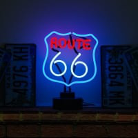 Route 66 Desktop Neon Sign