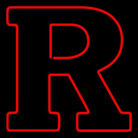 Rutgers Scarlet Knights Primary 2001 Pres Logo NCAA Neon Sign Neon Sign