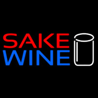 Sake Wine With Glass Neon Sign