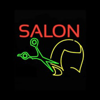 Salon Haircut Logo Neon Sign