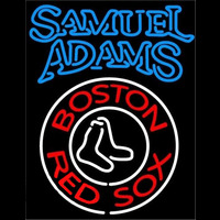 Sam Adams Double Stroke Boston Red Sox MLB Beer Sign Neon Sign