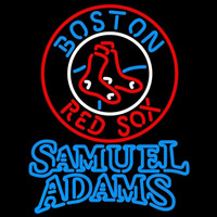 Samual Adamas Doubleline Boston Red Sox MLB Beer Sign Neon Sign