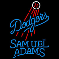 Samual Adams Singleline Los Angeles Dodgers MLB Beer Sign Neon Sign