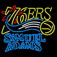 Samuel Adams Double Line Philadelphia 76ers NBA Beer Sign Neon Sign