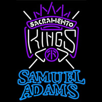 Samuel Adams Double Line Sacramento Kings NBA Beer Sign Neon Sign