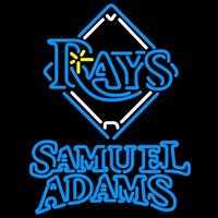 Samuel Adams Double Line Tampa Bay Rays MLB Beer Sign Neon Sign