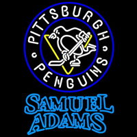 Samuel Adams Duble Line Logo Pittsburgh Penguins Beer Sign Neon Sign