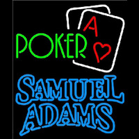 Samuel Adams Green Poker Beer Sign Neon Sign