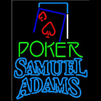 Samuel Adams Green Poker Red Heart Beer Sign Neon Sign