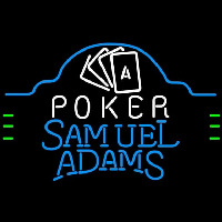Samuel Adams Poker Ace Cards Beer Sign Neon Sign
