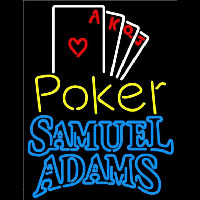 Samuel Adams Poker Ace Series Beer Sign Neon Sign