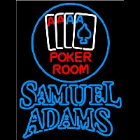 Samuel Adams Poker Room Beer Sign Neon Sign