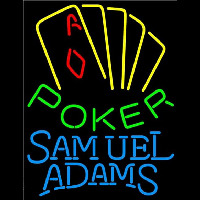 Samuel Adams Poker Yellow Beer Sign Neon Sign