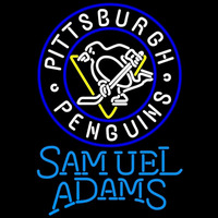 Samuel Adams Single Line Logo Pittsburgh Penguins Beer Sign Neon Sign