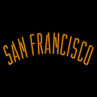 San Francisco Giants Wordmark 2000 2004 Logo MLB Neon Sign Neon Sign