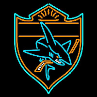 San Jose Sharks Alternate 2007 08 Pres Logo NHL Neon Sign Neon Sign