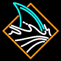 San Jose Sharks Secondary 2007 08 Pres Logo NHL Neon Sign Neon Sign