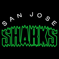 San Jose Sharks Wordmark 1991 92 2006 07 Logo NHL Neon Sign Neon Sign