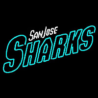 San Jose Sharks Wordmark 2007 08 Pres Logo NHL Neon Sign Neon Sign
