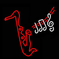Saxophone Musical Neon Sign