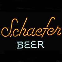 Schaefer Beer Logo Pub Display Neon Sign