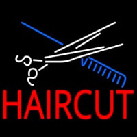 Scissor And Comb Haircut Neon Sign