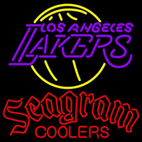 Seagram Los Angeles Lakers NBA Beer Sign Neon Sign