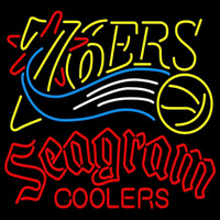 Seagram Philadelphia 76ers NBA Beer Sign Neon Sign
