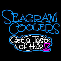 Seagram Test Of This Wine Coolers Beer Sign Neon Sign