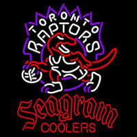 Seagram Toronto Raptors NBA Beer Sign Neon Sign