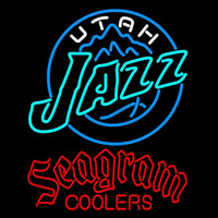 Seagram Utah Jazz NBA Beer Sign Neon Sign