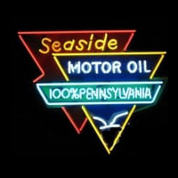 Seaside Motor Oil Neon Sign