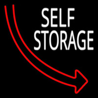 Self Storage Block Arrow Neon Sign