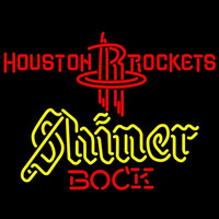 Shiner Houston Rockets NBA Beer Sign Neon Sign