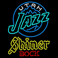 Shiner Utah Jazz NBA Beer Sign Neon Sign
