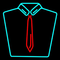 Shirt With Tie Logo Neon Sign