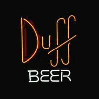 Simpsons Duff Neon Sign