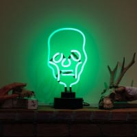 Skull Destop Neon Sign