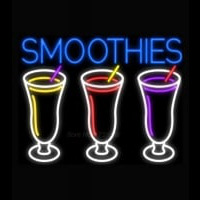 Smoothies 3 Cups Logo Neon Sign