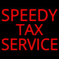Speedy Ta  Service Neon Sign
