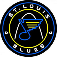 St Louis Blues Jersey 2008 09 Pres Logo NHL Neon Sign Neon Sign