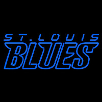 St Louis Blues Wordmark 1998 99 Pres Logo NHL Neon Sign Neon Sign