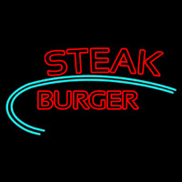 Steak Burger Neon Sign