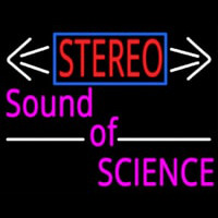 Stereo Sound Of Science Neon Sign